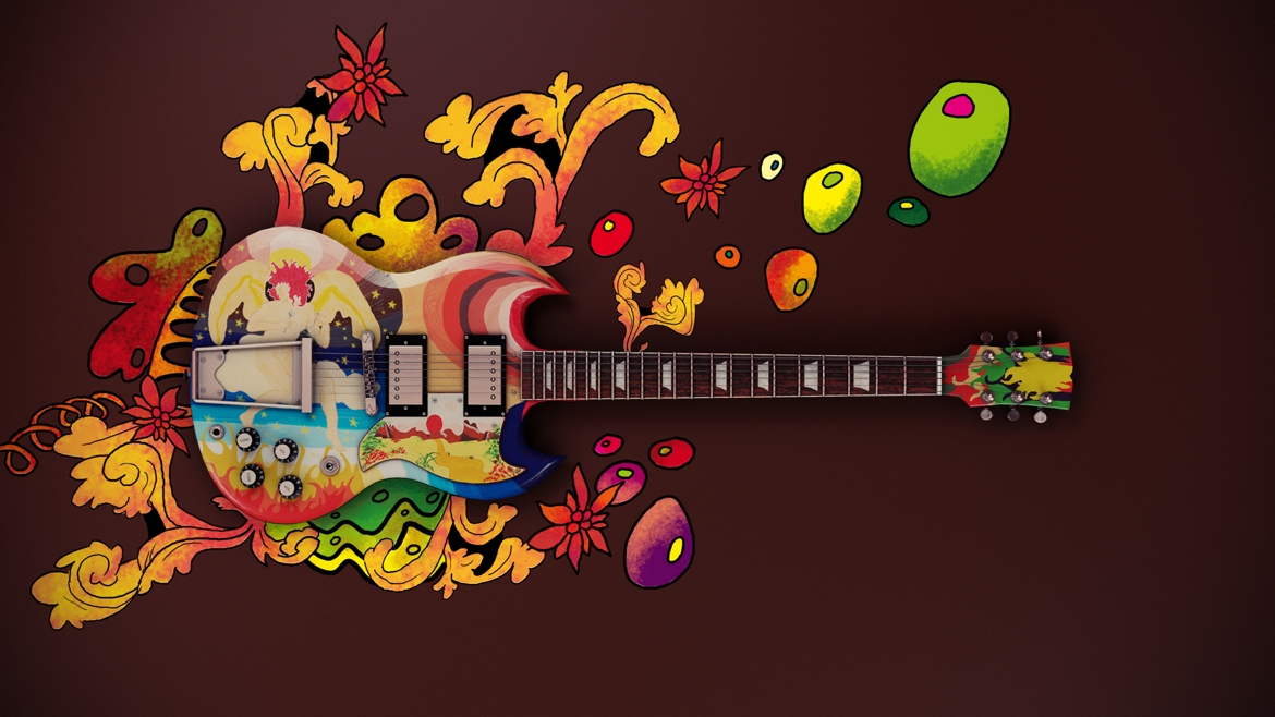 Gibson SG psychedelique 3D