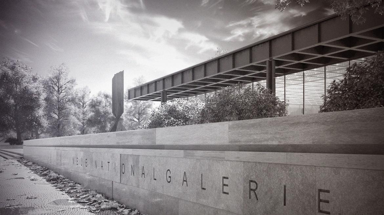Neue Nationalgalerie 3d mies van der rohe